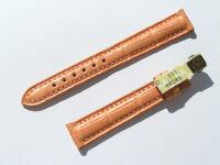 14mm Chopard Uhren Armband Ersatzband Lederarmband Croco orange 70/105 neu C14-7