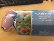 Easter Eggs DIY Fake Faux 12 Chalkboard Eggs Including 6 Piece Box Of Chalk
