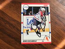 DINO CICCARELLI signed 1990 Score card # 230 WASHINGTON CAPITALS W/COA