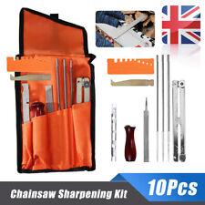 10x Chainsaw Sharpening File Stihl Filing Kit Chain Sharpen Saw Files Tool UK