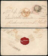 GB 1846 RAILWAY TPO MNR SMALL CIRCLE on QV POSTAL STATIONERY to LOUDWATER