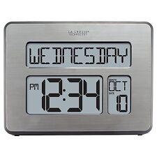 La Crosse Technology C86279 Atomic Full Calendar Clock with Extra Large Digits -