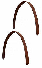 2 - ENGLISH OR WESTERN SADDLE HORSE BREAKAWAY SAFETY HALTER LEATHER CROWN STRAP