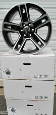 "22"" GMC YUKON SIERRA CHEVROLET ESCALADE FACTORY STYLE BLACK MACHINED WHEELS 5664"