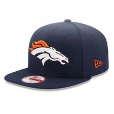 New ERA 9Fifty NFL Denver Broncos Logo Sideline Snapback Hat Cap Navy