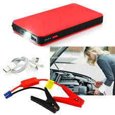 Portable 20000mAh 12V Power Bank Vehicle Car Jump Starter Pack Auto Booster Red