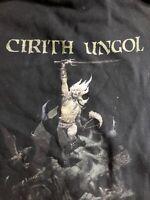 Cirith Ungol Frost And Fire ZIP Hooded Sweatshirt -Medium