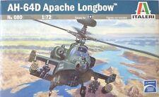 ITALERI 1:72 KIT HELICÓPTERO AH - 64D APACHE LONGBOW LONGITUD 18,7 CM ARTE 080