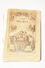 NOUVELLE ACADEMIE DES JEUX QUINOLA 1876 CROQUET BESIGUE CHINOIS COURSES