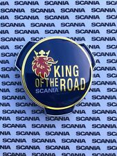 SCANIA BADGE GRILL TRUCK LORRY 1401610 KING OF THE ROAD BLUE GOLD GRIFFIN EMBLEM