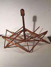 Vintage Round Wooden Umbrella Swift - Yarn Knitting Crocheting