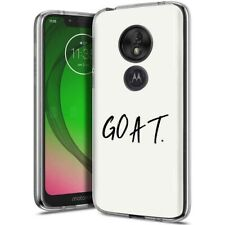 Thin Protective Gel Phone Case for Motorola G7 Play/Power/Plus,G.O.A.T Print
