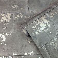 Charcoal, Modern, Concrete / Stone Effect, Smooth Finish Wallpaper