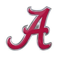"Alabama Crimson Tide Emblem Sticker Raised 3D Car Laptop Decal ""A"" Logo"