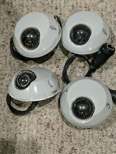 Axis M3113-R White Dome Ip Network Security / Surveillance Camera Lot of 4