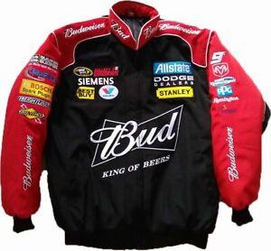 Budweiser Nascar Racing Fan Sommerjacke ungefüttert Lieferz. siehe Beschreibung