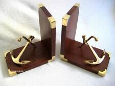 Maritime Bookends Wooden/Brass With