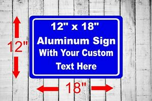 """Personalized 12"""" x 18"""" Aluminum Metal Sign Customized Your Custom Text word SQ29"""