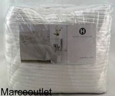 Hotel Collection Classic Moire King Duvet Cover White