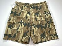IZOD Camoflauge 38 Men's Flat Front Cotton Shorts NEW NWT