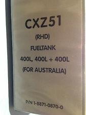 Isuzu CXZ51 RHD Australian Version  2001 Parts Book