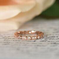 1.50 Ct Diamond Eternity Wedding Band 14k White Gold Excellent White Round Shape