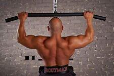 "LPG Muscle Hog Legs 1-3/4"" Fat 60 inch Lat Bar Cable Machine Attachment"