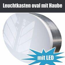 Leuchtreklame einseitig oval, 1000mm x 600mm, ovaler Leuchtkasten mit LED / Neon