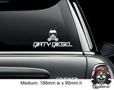 Dirty Diesel Sticker VW Euro Drift Car Vinyl Decal - WHITE