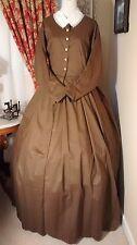 Civil War Reenactment Day Dress Size 22 Medium Brown Solid
