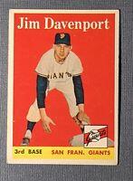 1958 Topps #413 Jim Davenport Rookie San Francisco Giants VGEX