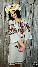 Ukrainian HANDMADE embroidered traditional dress for ladies, shirt, vyshyvanka