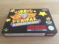 Kirby's Fun Pak NEU & UNBESPIELT Super Nintendo SNES Komplett OVP CIB RAR Spiel