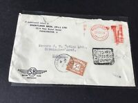 Shortland Bros Manchester 1954 to pay stamps cover  Ref R28811