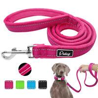 120cm Nylon Dog Lead Reflective Soft Padded Handle Pet Walking Leash Durable S M