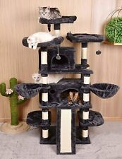 Cat Tree Multi Level King X Large Size 68 Inch Cat Tower with Cozy Perches Stabl