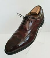 Johnston Murphy J Murphy Oxford Wingtip Brogue Burgundy Leather Shoes Size 10M