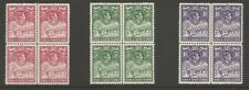 TURKS & CAICOS IS SG203-5 THE 1938-45 GVI TOP VALUES IN SUPERB MNH BLOCKS C£435+