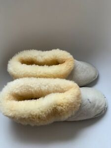 Sheepskin slippers hand made size  43
