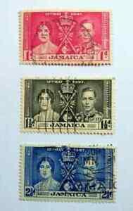 Jamaica 1937 Coronation Stamp Set used BM80