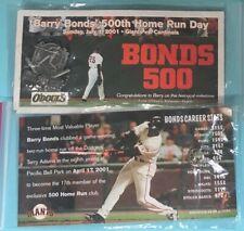 San Francisco GIANTS 4/17/2001- Barry BONDS -500th Home Run Day Pin