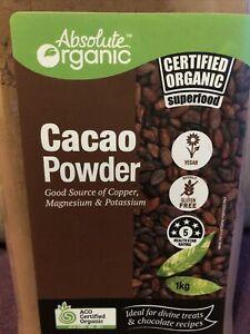 100% Organic Cacao Powder 1 Kg / Cocoa Powder BB 03/2022- Bulk Buy Sale re