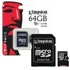 MICRO SD CARD 64GB KINGSTON UHS-I CLASSE 10 CON ADATTATORE SD 80 MB/S CORRIERE