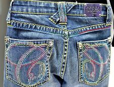COOGI JEANS Authentic Australia stretch denim embellished straight leg SIZE 7 8