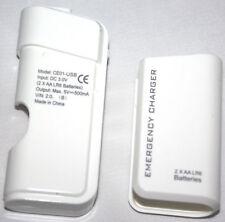 Nuevo 2AA USB cargador de energía de la batería de viaje de emergencia para HTC One M9, M8, uno A9 M7 W