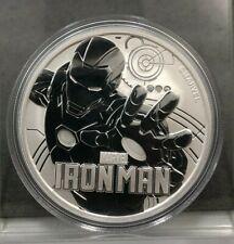 2018 Tuvalu Marvel Series IRONMAN 1 oz .9999 Fine Silver Coin Iron Man