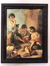 Vintage Bartolome Esteban Murillo 'Street Arabs' Framed Canvas Print