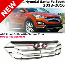 For 13-16 Hyundai Santa Fe | Sport ABS Front Grille With Black Chrome Trim