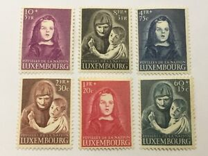 old stamps  LUXEMBOURG    x  6  War Orphans Relief  Fund