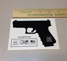 GLOCK GUN STICKER ORIGINAL FIREARM PISTOL POLICE GUN SHOOTING L@@K 30 YEARS FLAG